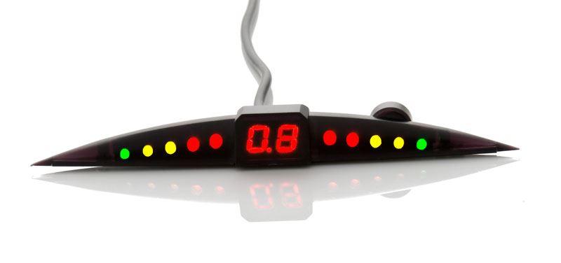4 Parking Sensors Slim Red Color LED + Micro Buzzer Kit